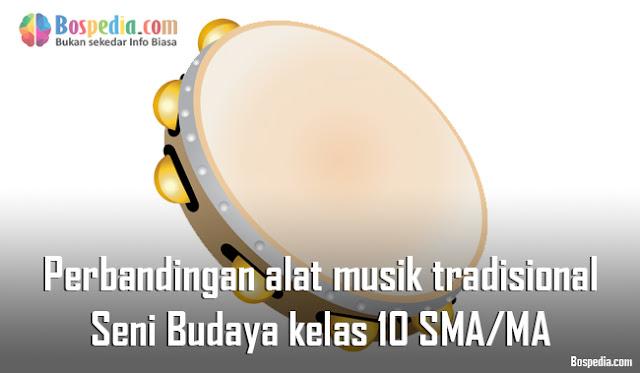 Materi Perbandingan alat musik tradisional Mapel Seni Budaya kelas 10 SMA/MA
