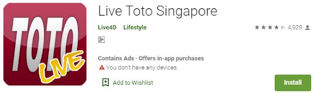 Aplikasi Togel Terbaru - Live Toto Singapore