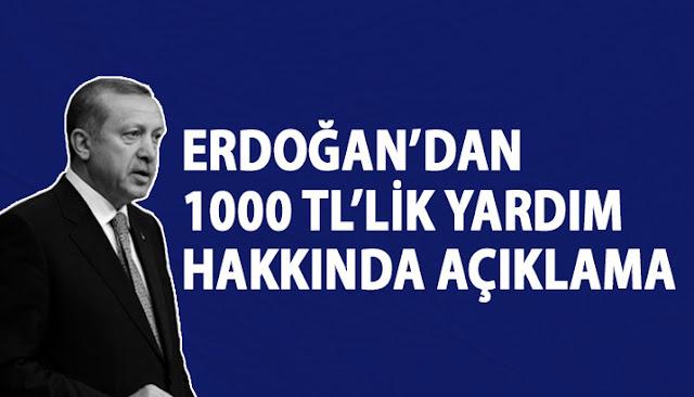 Erdoğan yardım açıklaması