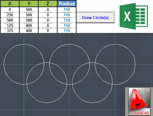 Drawing Circles In AutoCAD Using Excel & VBA