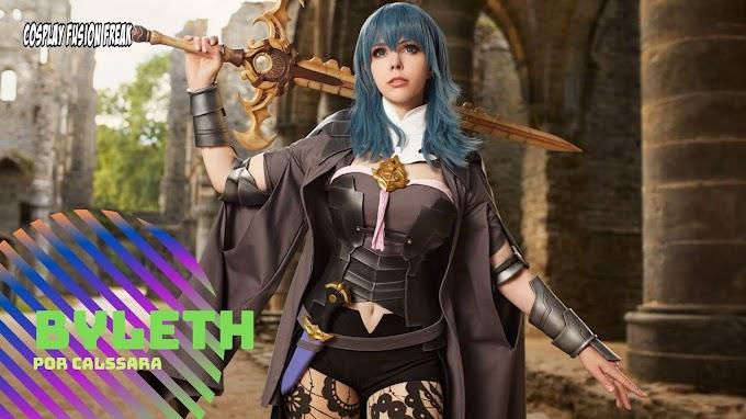 Calssara con su cosplay de Byleth