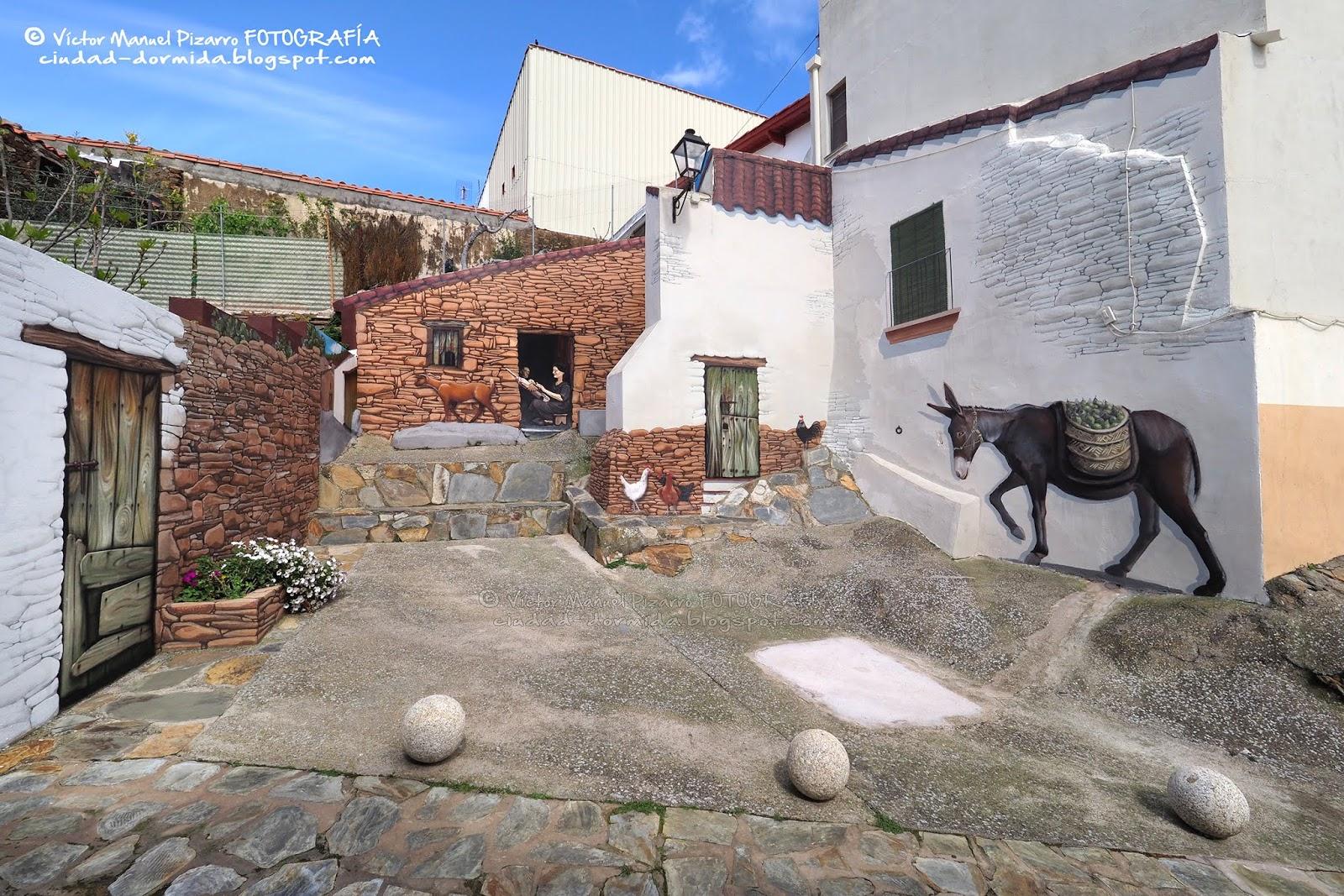 4e0d622532f Romangordo, el pueblo de los trampantojos / Romangordo, Cáceres ...