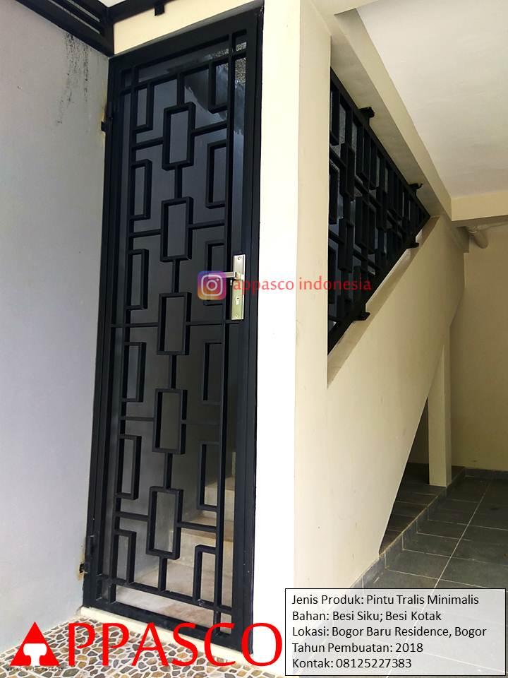 Pintu Besi Teralis Minimalis di Bogor Baru Residence