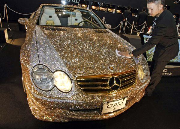 Diamond Encrusted Car: Slate & Stylish: Cruisin' In Style