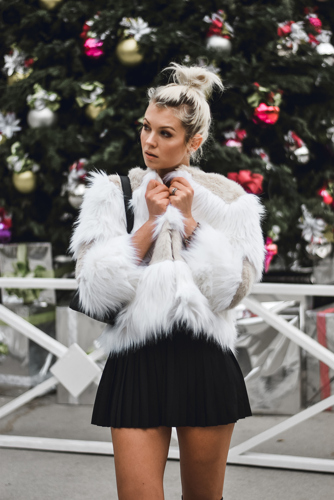 faux fur coat for cold weather