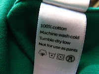 Dry Cleaning Instructins inside Clothing Care Label