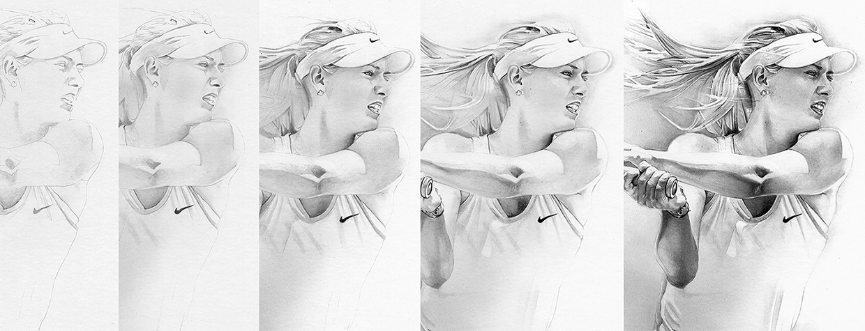 06-Maria-Sharapova-detail-Alexis-Marcou-Traditional-and-Digital-Celebrity-Drawings-www-designstack-co