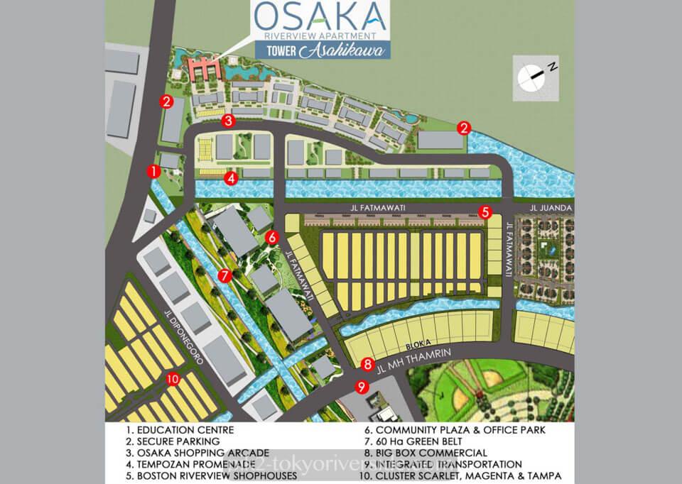 Peta Lokasi Apartemen Osaka Riverview Jakarta