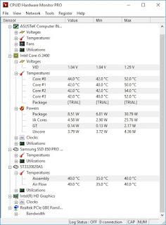 Pantau Kondisi Hardware Komputer dengan HWMonitor Pro