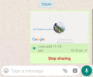 Stop sharing live location