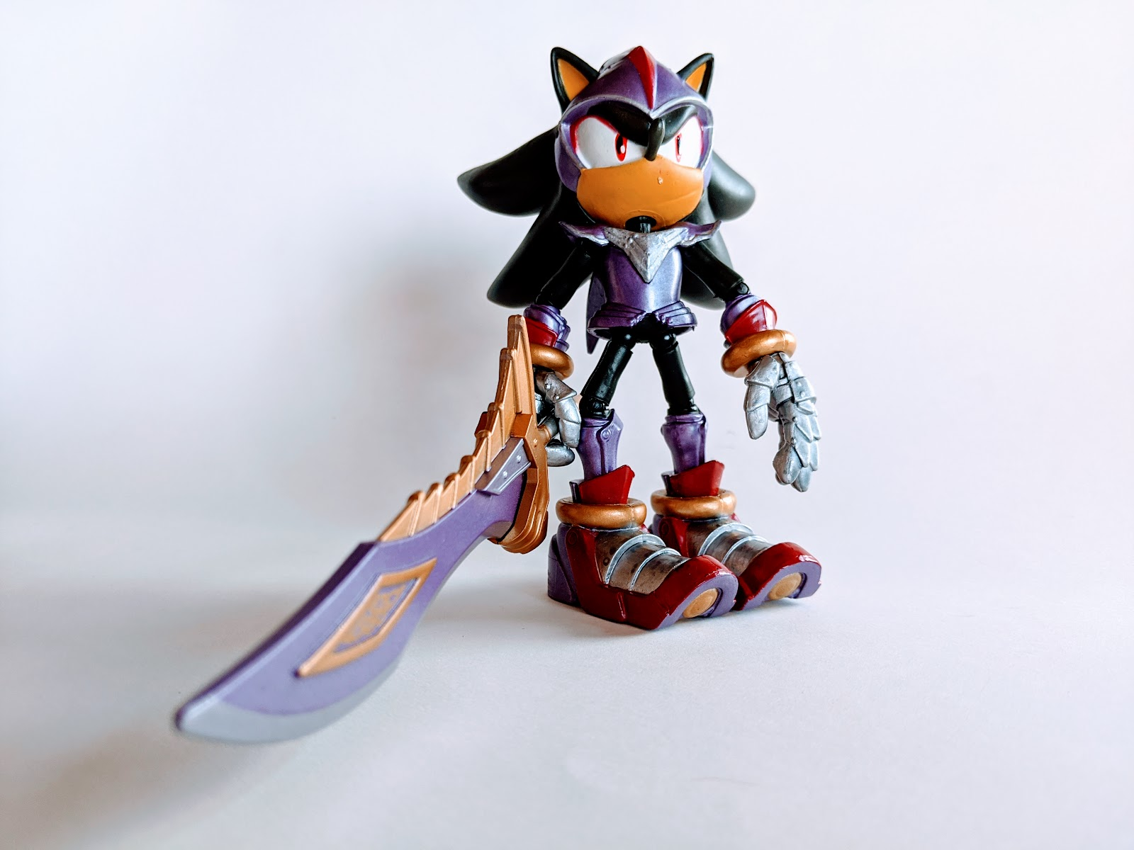picture of sonic action figure on white background
