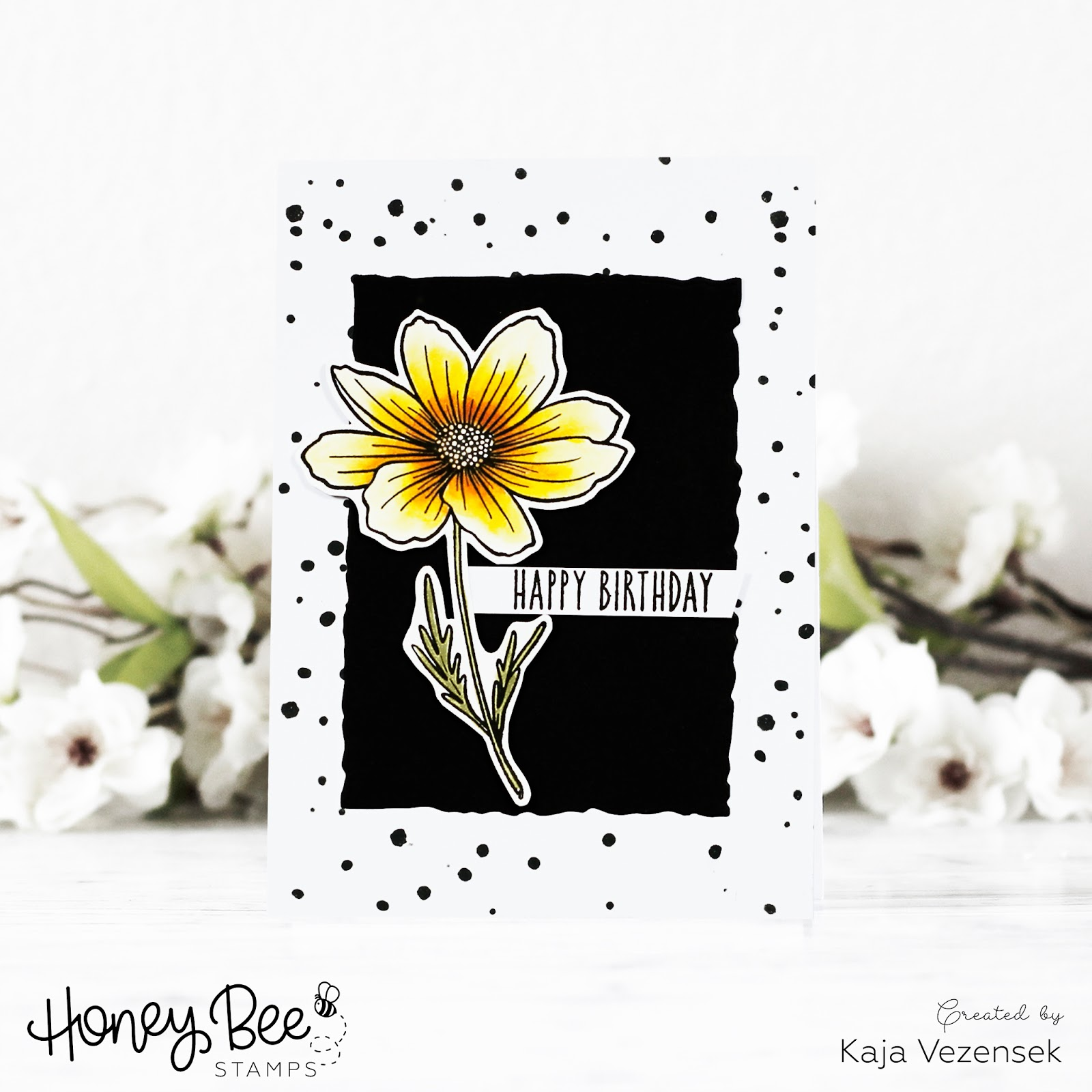 Stenciled background | HONEY BEE