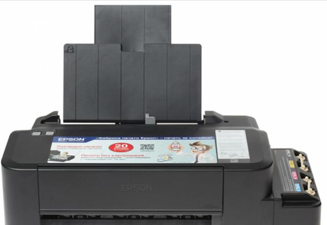 daya tampung kertas printer epson l120
