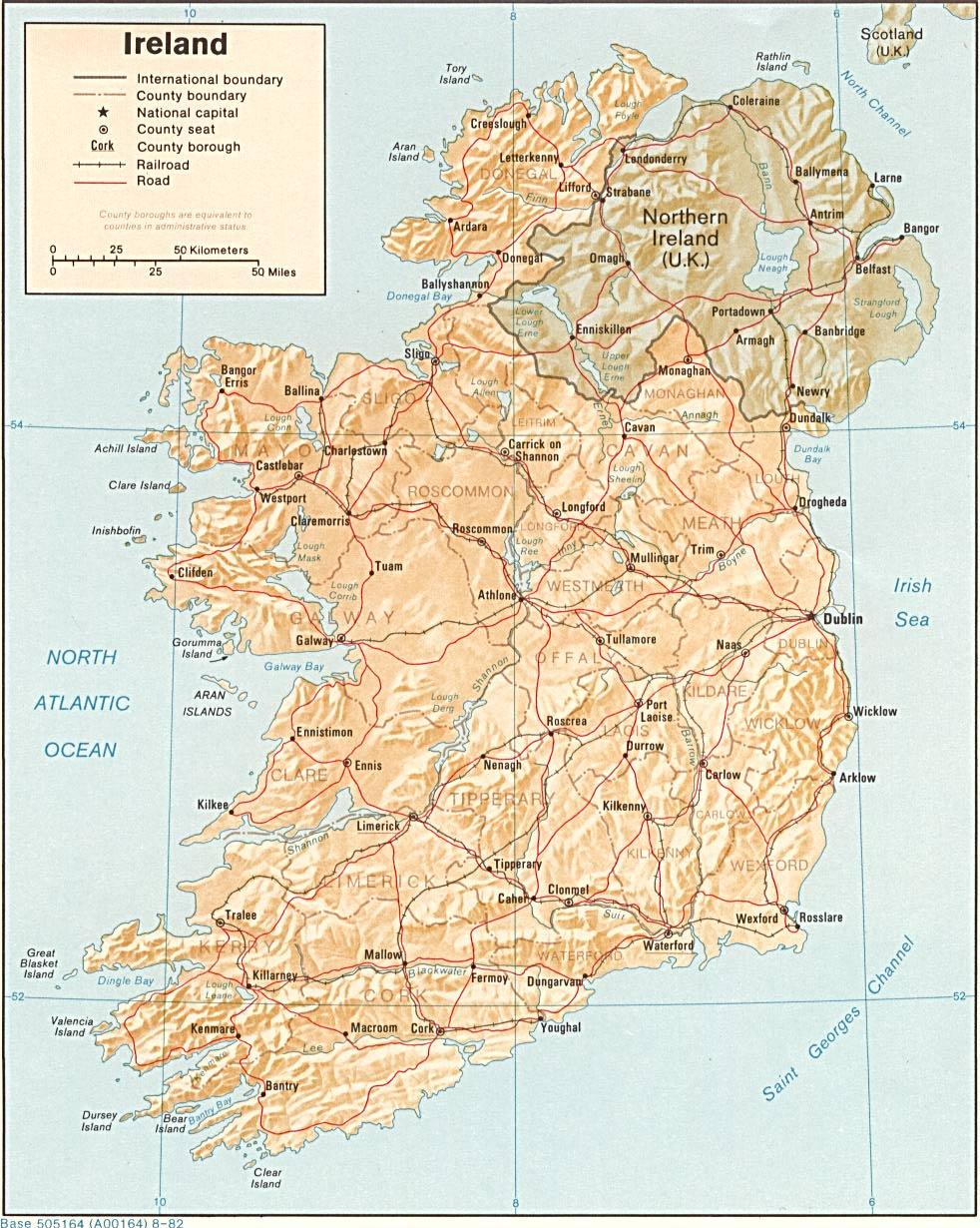 Irlanda | Mapas Geográficos da Irlanda