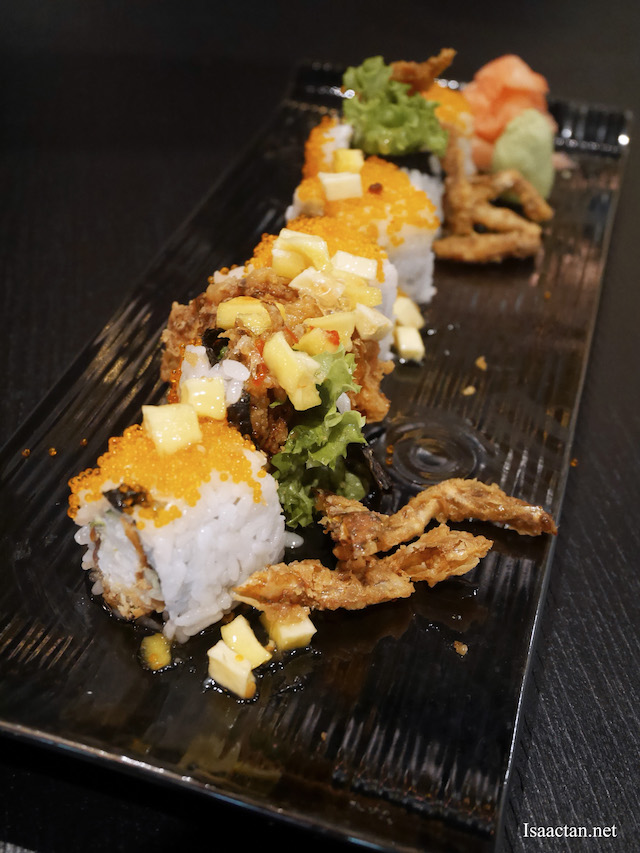 Soft Shell Crab With Thai Mango Chili Sauce Sushi - RM34.90