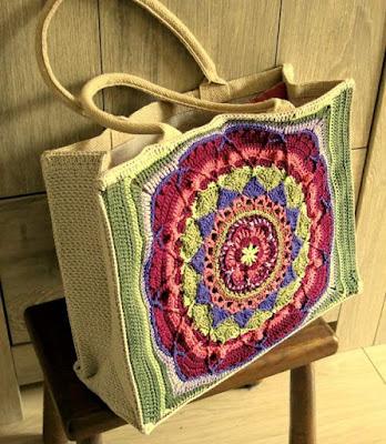 Resultado de imagen para Bolsa mándala a crochet