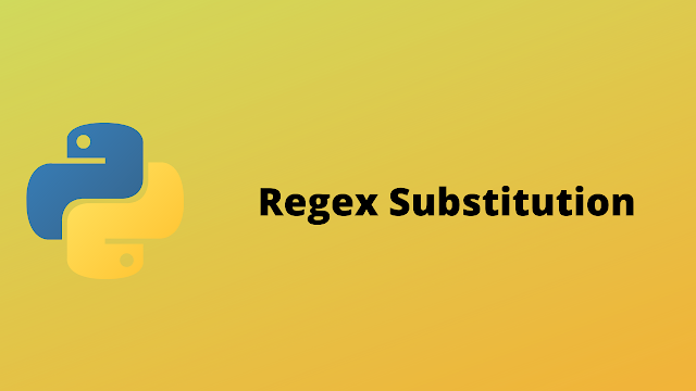 HackerRank Regex Substitution solution in python