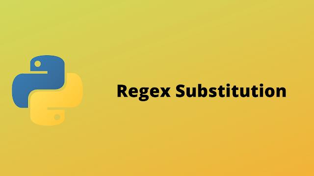 HackerRank Regex Substitution solution in python