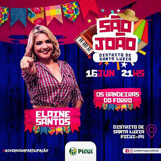 São João de Santa Luzia do Seridó, distrito de Picuí, acontece neste domingo, dia 16