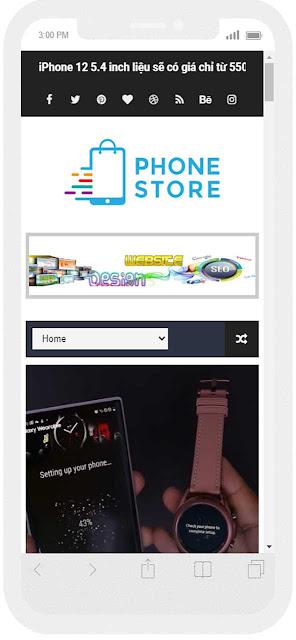 Mẫu website tin công nghệ giao diện điện thoại