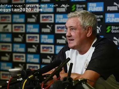 """مؤتمر السيد """" ستيف بروس """" مدرب نيوكاسل Newcastle والذي يخص لقاء مانشستر يونايتد في الجولة ال5 من الدورى الانجليزى"""