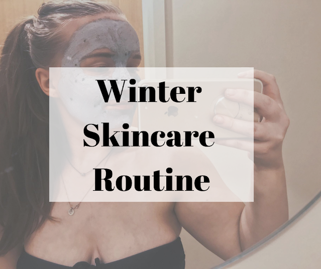 Winter skincare routine blog header