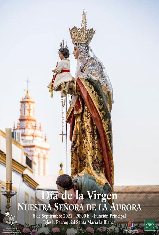 Cartel de la Virgen De La Aurora Fuentes de Andalucía 2021