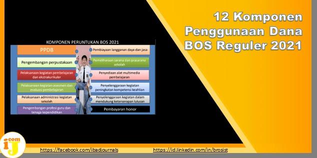 12 Komponen Penggunaan Dana BOS Reguler 2021