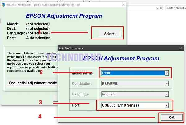 """Printer epson L Series Error """"Head cleaning can not complete"""""""
