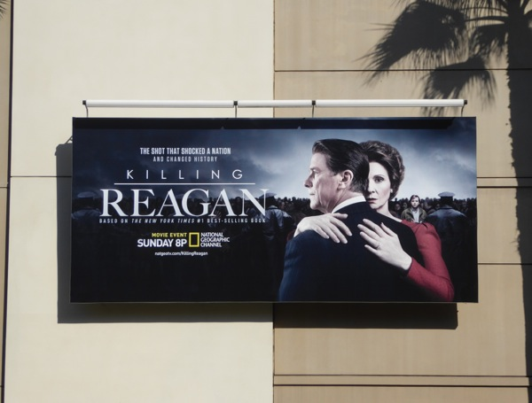 Killing Reagan TV movie billboard