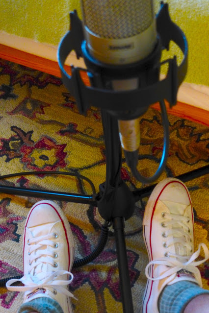 "economy recording, bedroom studio, cheap, Jimmy Clifford, Jim Clifford, James Aoyama, Shure KSM27, large diaphragm condenser, 1"" diaphragm, microphone, mic, Converse white low tops, low, sneakers,"
