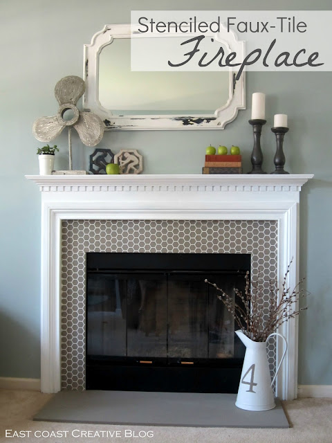 How to Paint a Fireplace - Infarrantly Creative