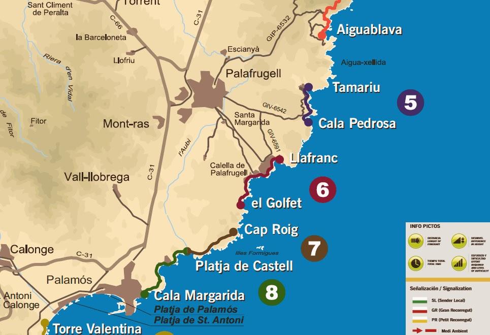 Mapa Costa Brava Playas.Caminos De Ronda De La Costa Brava 2 Mapas Y Coordenadas Gps