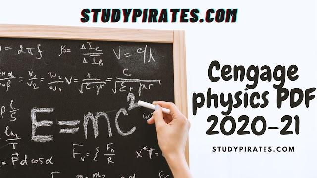 Cengage physics PDF 2020-21
