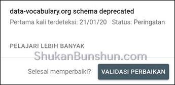 data vocabulary deprecated mengatasi masalah error