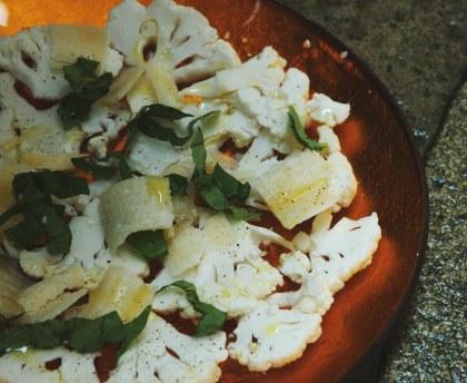 Cauliflower in carpaccio