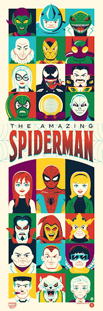 """The Amazing Spider-Man"" Marvel Screen Print by Dave Perillo x Grey Matter Art"