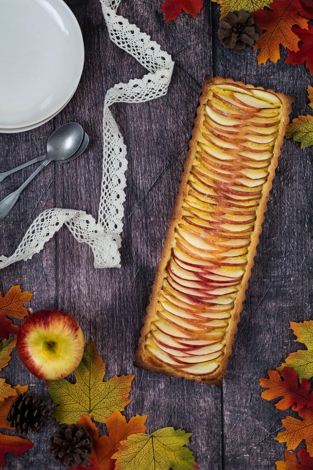 Recette d'une délicieuse tarte aux pommes à la frangipane