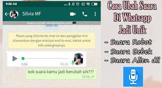 Cara Merubah Voice Note WhatsApp Jadi Suara Unik