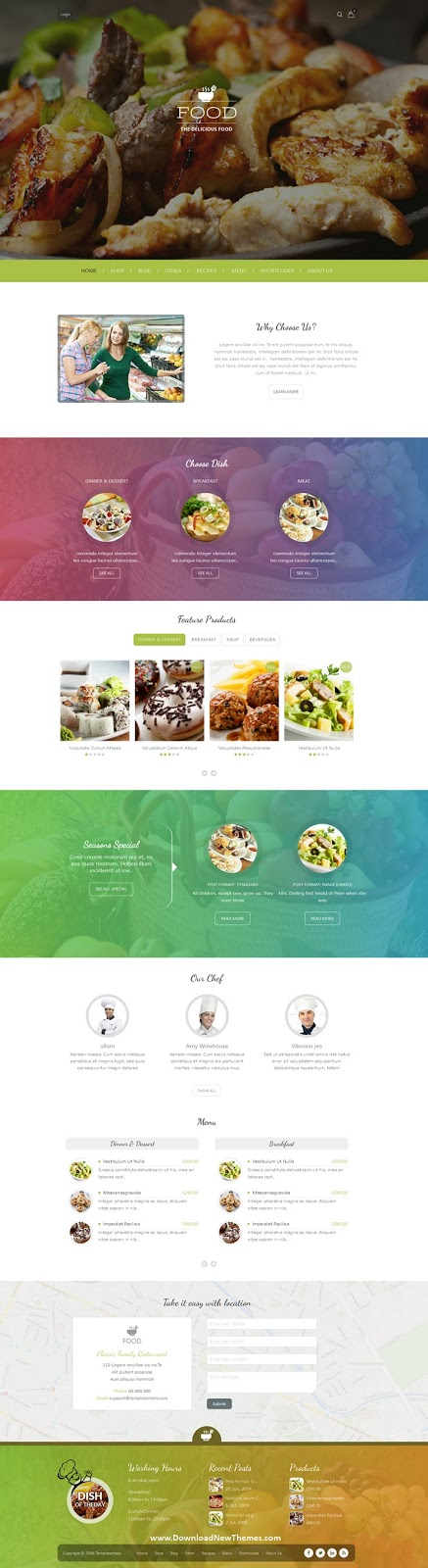 Restaruant WordPress Theme 2020