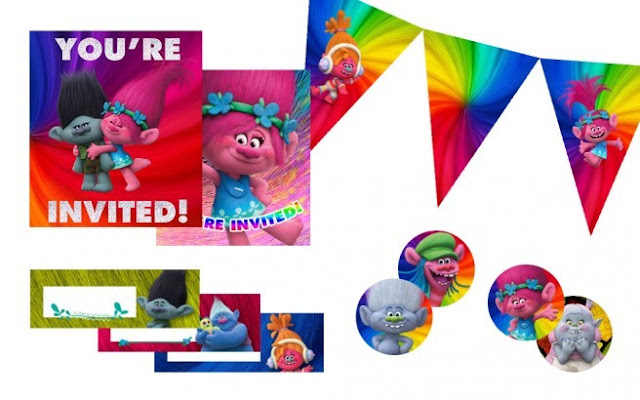 Trolls Birthday Party Free Printable Kit