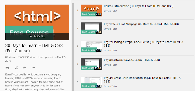 30 Days To Learn HTML & CSS