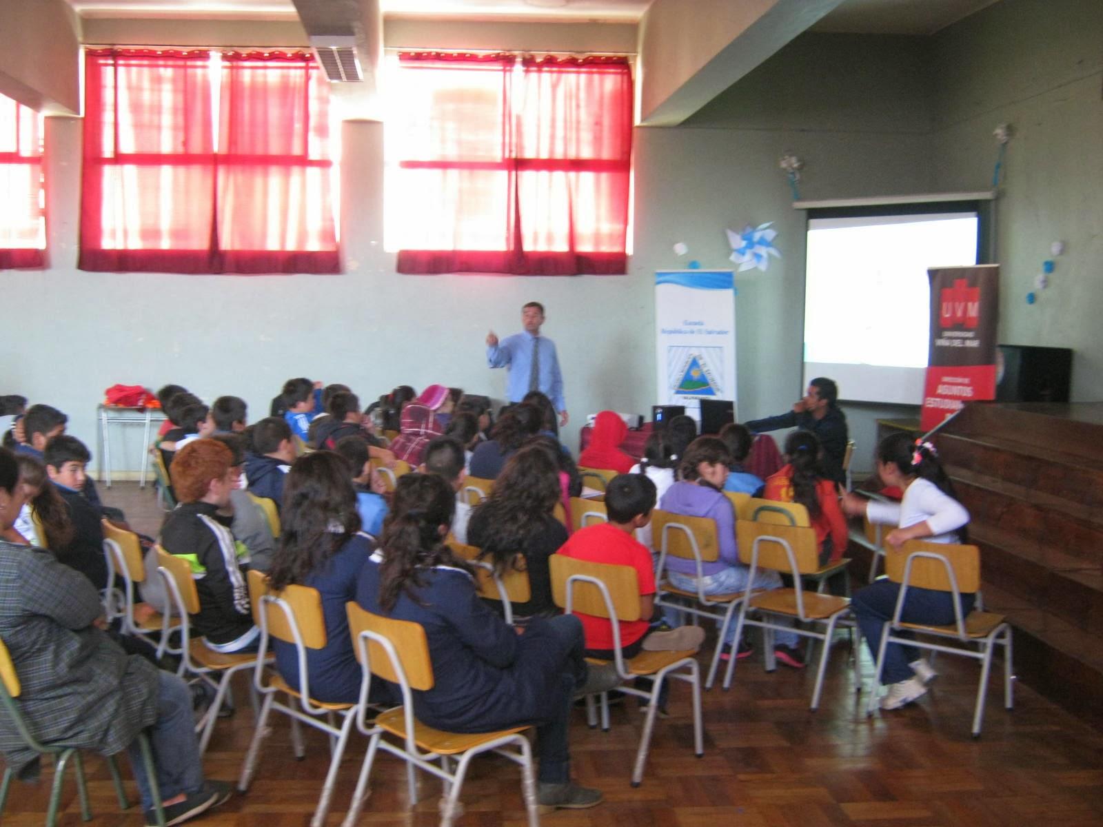 Escuela El Salvador Valparaíso Charla Motivacional