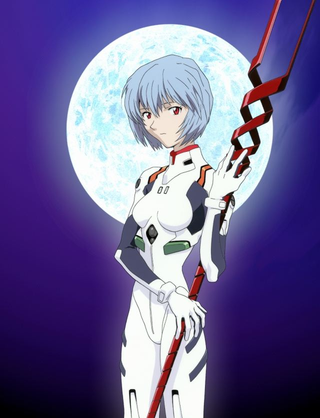 Rei Ayanami with Longinus