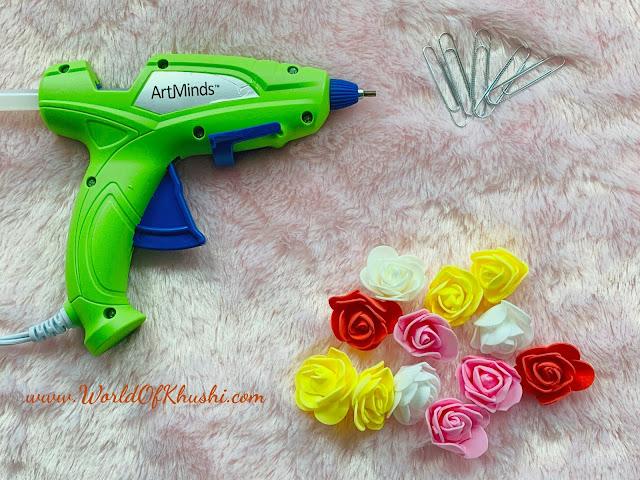 Cute Flower Paper Clips_KhushiWorldDIY