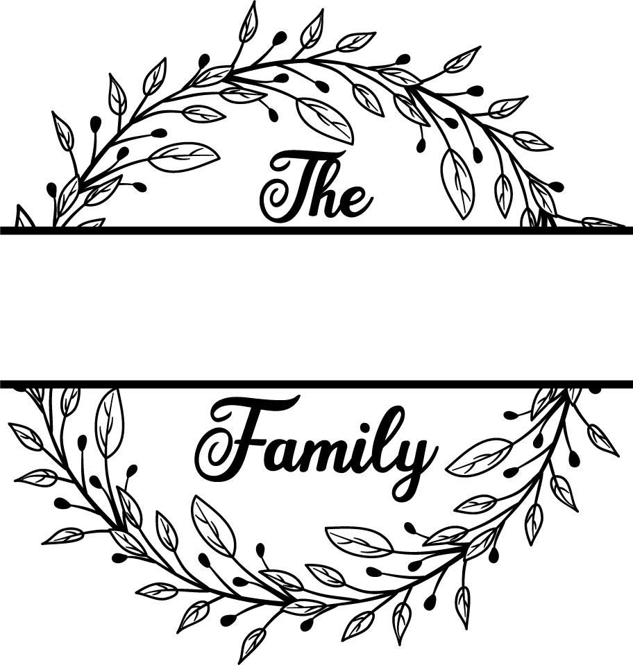Free Family Monogram SVG File