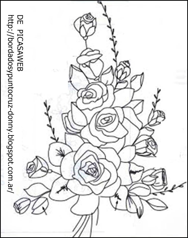 Patrones De Flores Para Imprimir