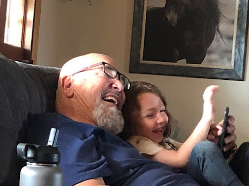 PopPop and Ezra make each other laugh all the time.
