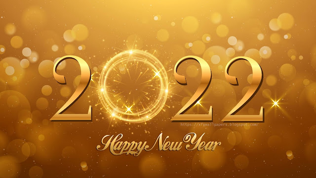 Happy New Year 2022 Gold wallpaper