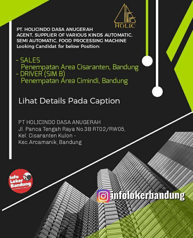 Lowongan Kerja Holicindo Dasa Anugerah Bandung Juli 2019